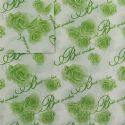 Shoyu patterned textured paper, Light green, white, 20cm x 30cm, 10 sheets, [YHZ110]